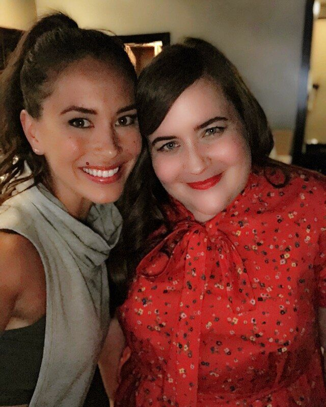 Aidy Bryant and I after we finished shooting.