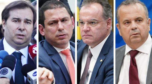 Rodrigo Maia, Marcelo Ramos e Samuel Moreira, da Câmara Federal, e Rogério Marinho, do Executivo:...