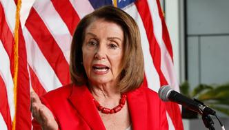 """House Speaker Nancy Pelosi speaks during a news conference at the Federal Building in San Francisco on Monday, July 8, 2019. She and other elected leaders and advocates, called for the Senate to pass the Securing America's Elections (SAFE) Act, a bill to protect elections from future foreign interference. House Speaker Pelosi said President Donald Trump wants to add a citizenship question to next year's Census because he wants to """"make America white again."""" (AP Photo/Samantha Maldonado)"""