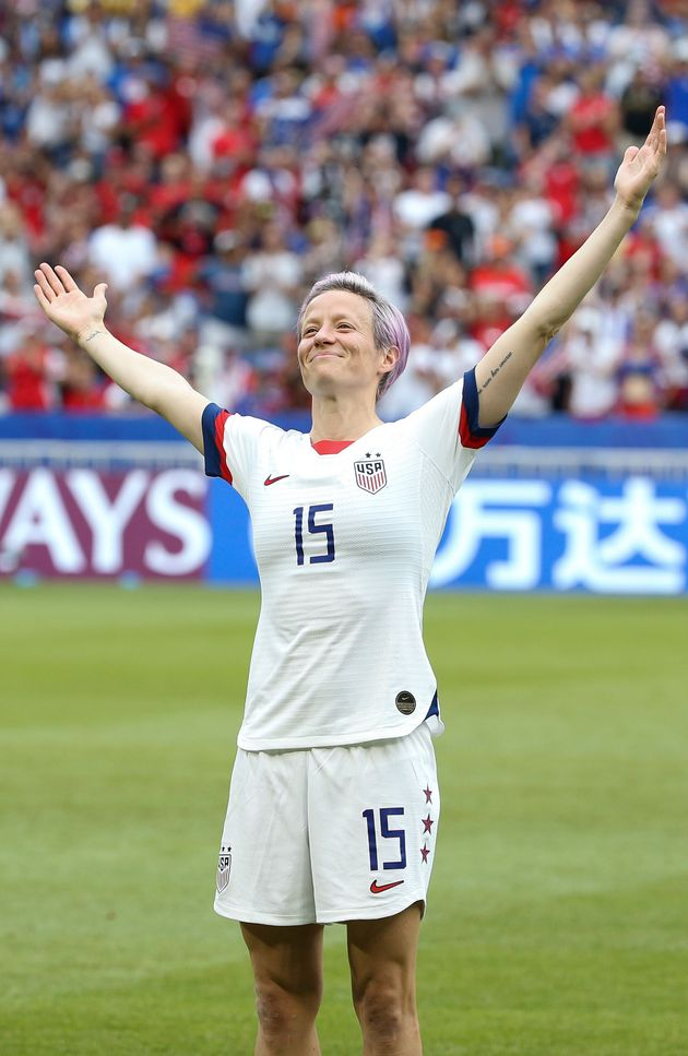 Megan Rapinoe of U.S. celebrates the victory following the 2019 FIFA Women's World Cup Final