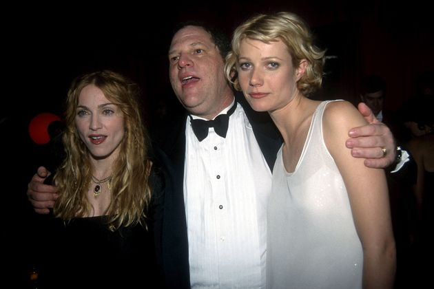 Gwyneth Paltrow's face says it all. The actress is pictured here with Harvey Weinstein and Madonna...