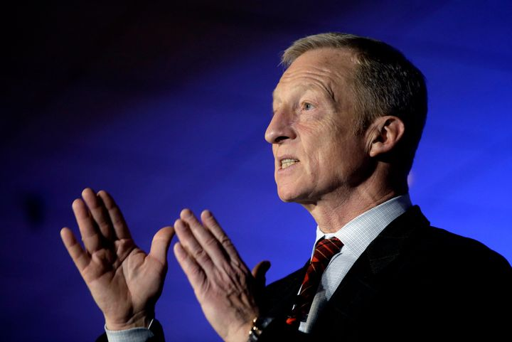 Liberal billionaire Tom Steyer is announcing Tuesday whether he plans to run for president. Could a union dispute at a group