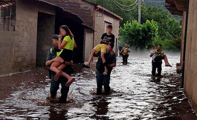Pánico en Ourense por la tormenta: