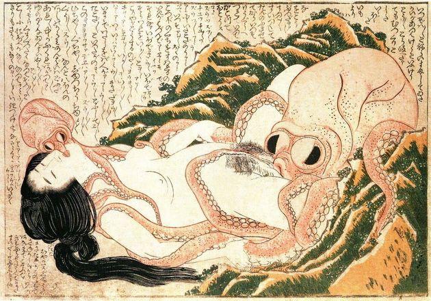 'El sueño de la mujer del pescador', de Hokusai