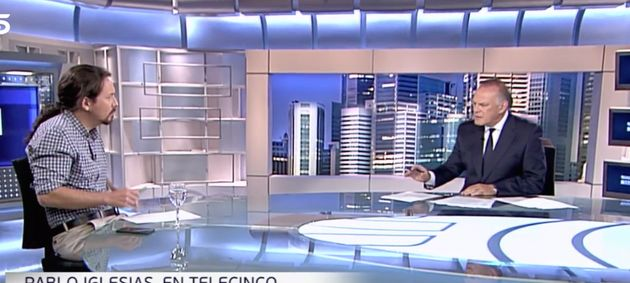 Pablo Iglesias muestra con una foto lo que no se vio en su entrevista con Pedro Piqueras: