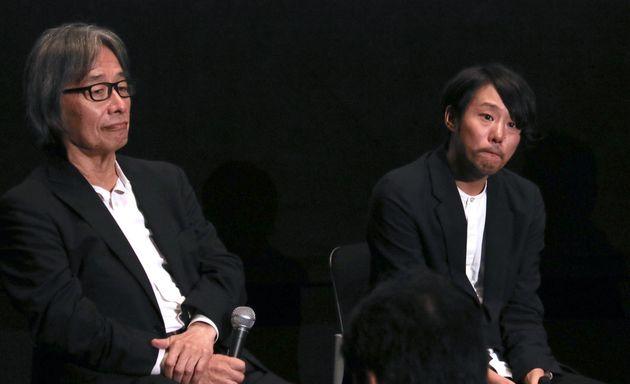 語り合う藤井監督(右)と河村プロデューサー