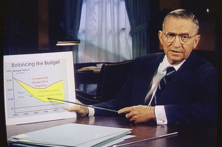 Ross Perot paid millions for his half-hour infomercial spots on primetime TV.