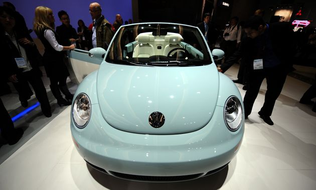 A 2010 Volkswagen Beetle Convertible Final Edition at the Los Angeles Auto Show, Dec. 2,