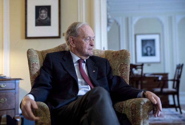 Former prime minister Jean Chretien participates in an interview in Ottawa on Oct. 5,
