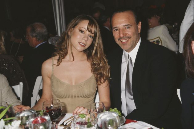 Mariah Carey and then-husband, American music executive Tommy Mottola, attend the