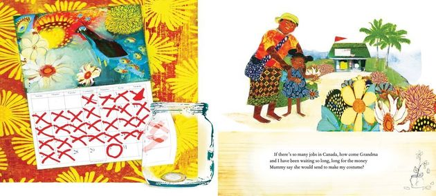 In Malaika's Costume, the seven-year-old Malaika eagerly anticipates Carnival. But will she be able to
