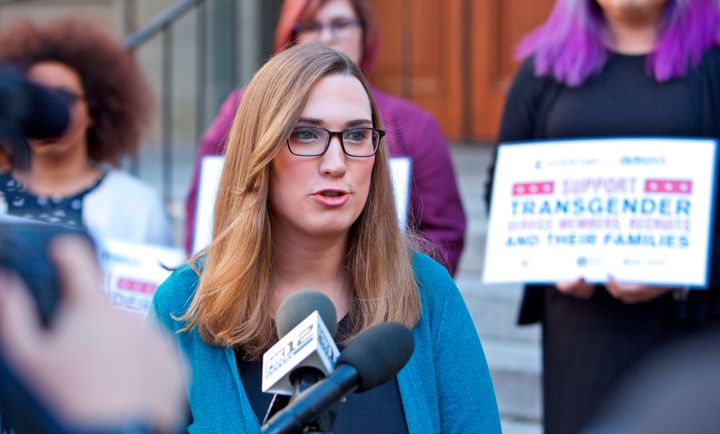 Sarah McBride is running for Delaware's state Senate District 1 in the 2020 election.