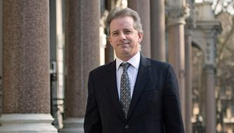 """Christopher Steele, former British intelligence officer in London Tuesday March 7, 2017 where he has spoken to the media for the first time . Steele who compiled an explosive and unproven dossier on President Donald Trump's purported activities in Russia has returned to work. Christopher Steele said Tuesday he is """"really pleased"""" to be back at work in London after a prolonged period out of public view. He went into hiding in January. (Victoria Jones/PA via AP)"""
