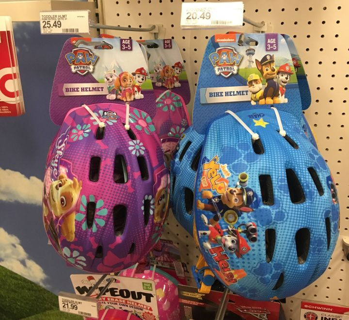 The girl's version of the exact same helmet costs an extra $5.