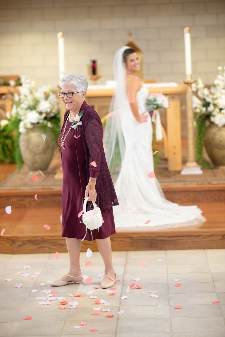 "The bride called her grandmother ""the strength of [her] family."""