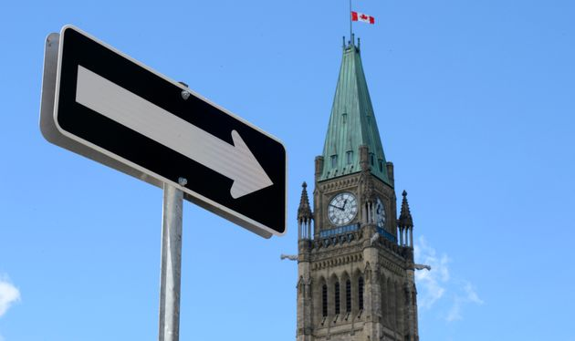 The Peace Tower on Parliament Hill in Ottawa is shown on Aug. 2,