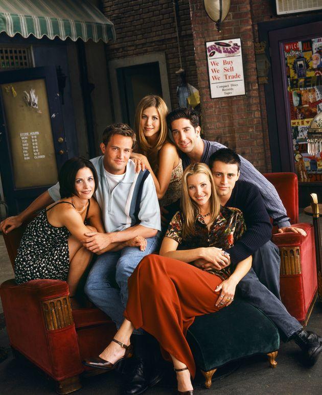 Photo d'archives de la série «Friends» - de gauche à droite: Courteney Cox,...