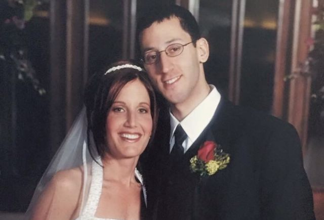 Lisa Boltman and her husband Rob on their wedding day in 2003.