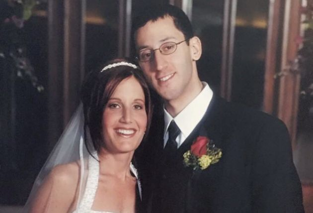Lisa Boltman and her husband Rob on their wedding day in