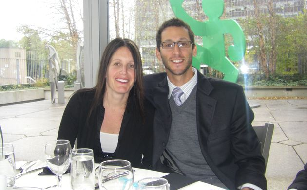 Lisa and Rob at a family wedding in