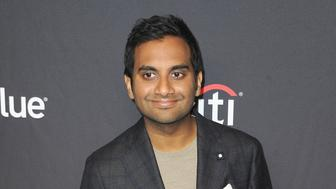 """HOLLYWOOD, CA - MARCH 21:  Aziz Ansari attends The Paley Center For Media's 2019 PaleyFest LA - """"Parks And Recreation"""" 10th Anniversary Reunion held at Dolby Theatre on March 21, 2019 in Hollywood, California.  (Photo by Albert L. Ortega/Getty Images)"""