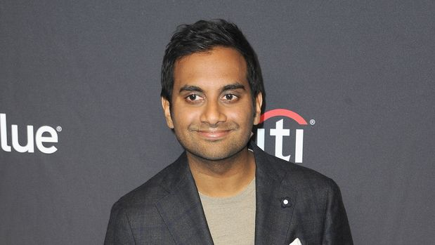 "HOLLYWOOD, CA - MARCH 21:  Aziz Ansari attends The Paley Center For Media's 2019 PaleyFest LA - ""Parks And Recreation"" 10th Anniversary Reunion held at Dolby Theatre on March 21, 2019 in Hollywood, California.  (Photo by Albert L. Ortega/Getty Images)"