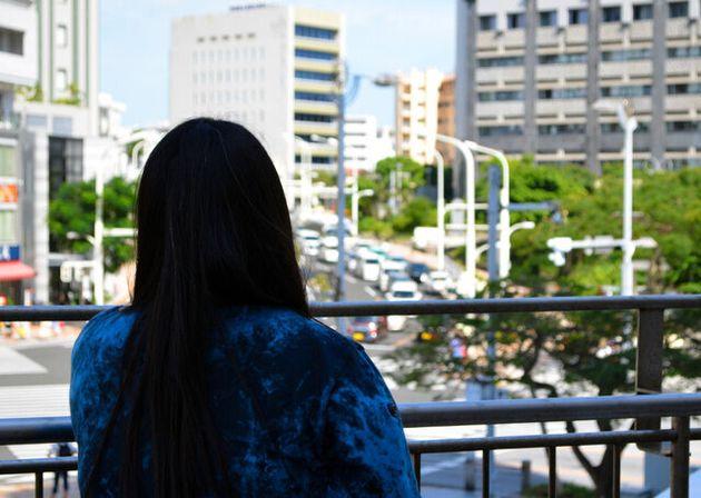 ハンセン病家族訴訟原告の女性=2019年6月16日午後3時34分、那覇市、田中久稔撮影