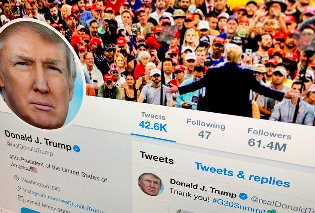 미국 법원이 트럼프에게 : 트위터에서 다른 사람 '차단'하는 건