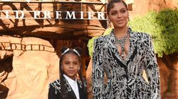 Beyonce And Daughter Blue Ivy Wearing Matching Outfits To The Lion King Premiere Is The