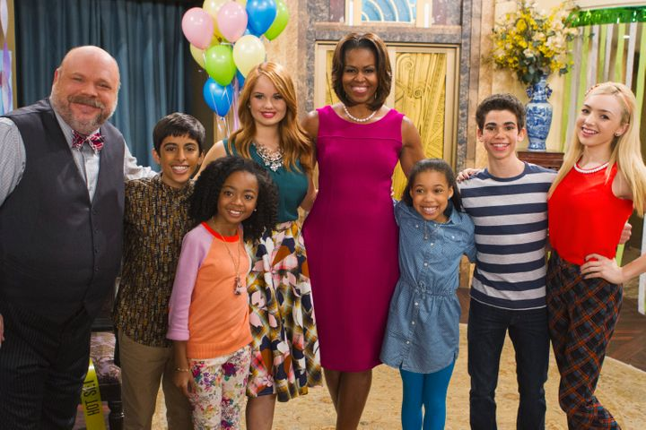 "Former first lady Michelle Obama also met Boyce on the set of ""Jessie."""