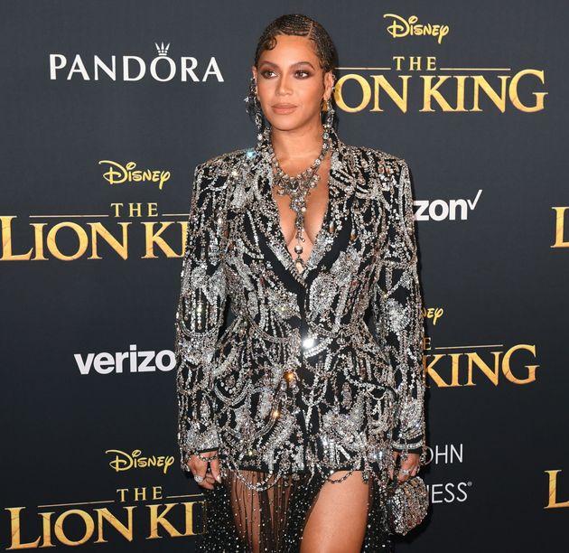 Une Beyoncé (Nala dans le film) scintillante cette nuit à Los