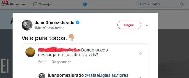 El escritor Juan Gómez-Jurado arrasa con su incontestable respuesta a este