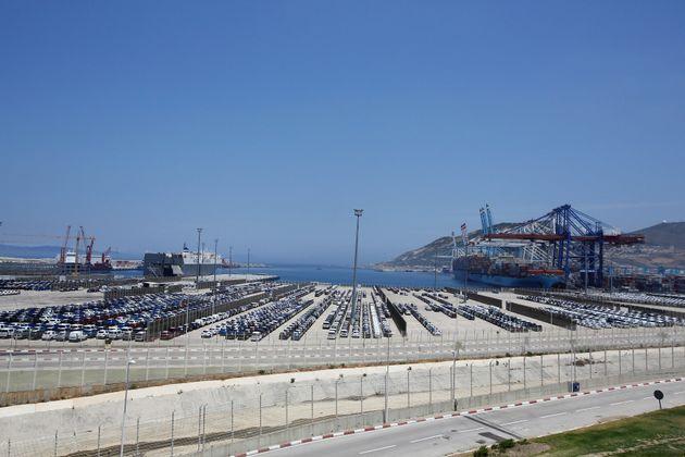 Le port de Tanger-Med à Ksar Sghir, près de