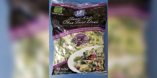 This Eat Smart brand of sweet kale vegetable salad was recalled by the Canadian Food Inspection...