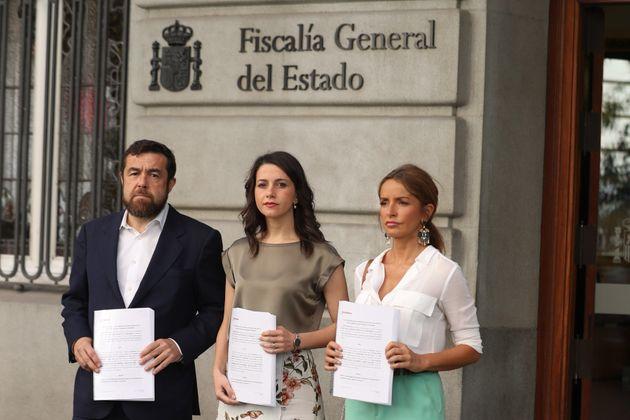 Cs acusa al PSOE ante la Fiscalía de justificar los altercados del