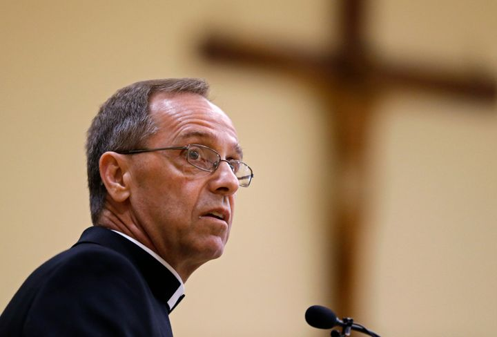Archbishop Charles Thompson pressured Cathedral High School into firing a gay teacher in a same-sex marriage.