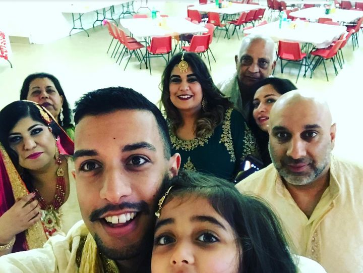 Asad Moghal and his family.