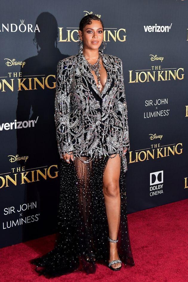 Beyoncé attends the Premiere Of Disney's