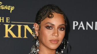 """HOLLYWOOD, CALIFORNIA - JULY 09:  Beyonce attends the Premiere Of Disney's """"The Lion King"""" at Dolby Theatre on July 09, 2019 in Hollywood, California. (Photo by Jon Kopaloff/FilmMagic)"""