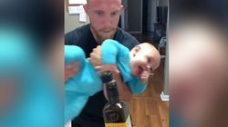 ▶️Kicking Baby Wins 'Bottle Cap Challenge' With A Little Help From
