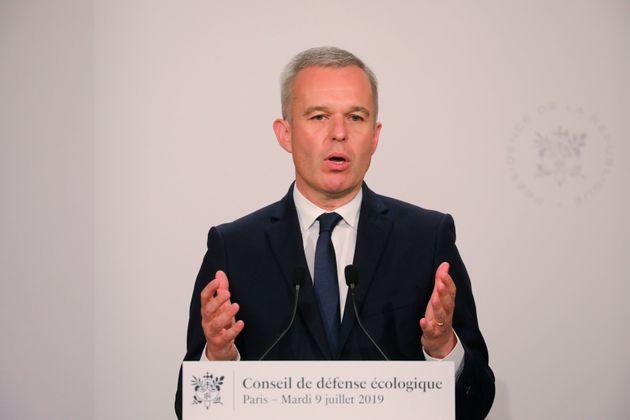 François de Rugy lors d'une conférence de presse à Paris le 9 juillet