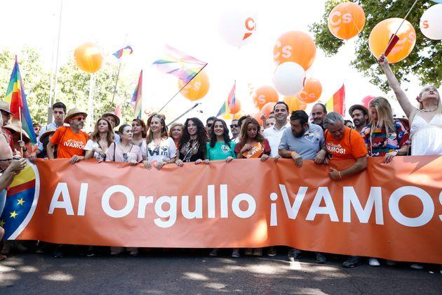 Pancarta de Ciudadanos en la manifestación del