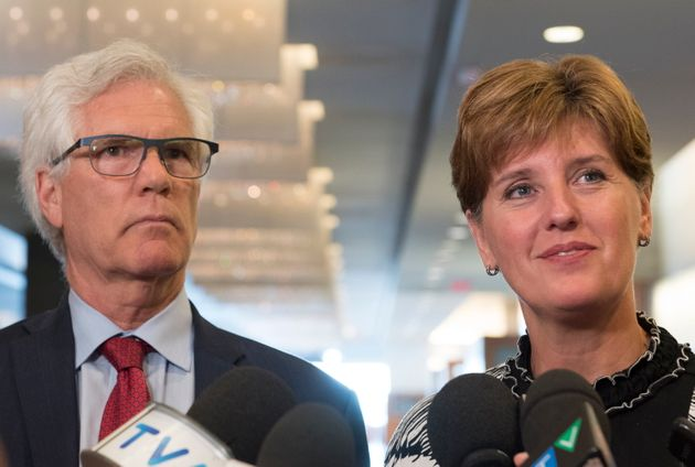 Marie-Claude Bibeau, Minister of Agriculture, and Jim Carr, Minister of International Trade Diversification...