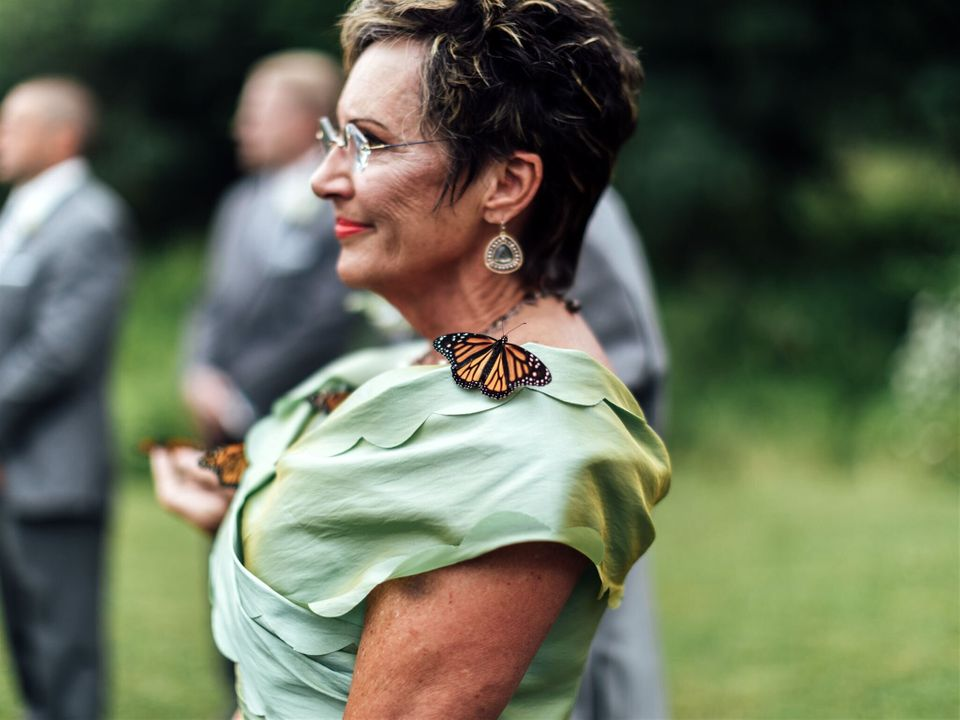 They Released Butterflies For The Groom's Late Sister, Then