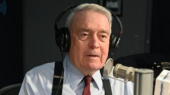 NEW YORK, NY - MAY 16:  (EXCLUSIVE COVERAGE) Journalist Dan Rather visits SiriusXM's POTUS Politics with host Dan Abrams at SiriusXM Studios on May 16, 2019 in New York City.  (Photo by Slaven Vlasic/Getty Images)