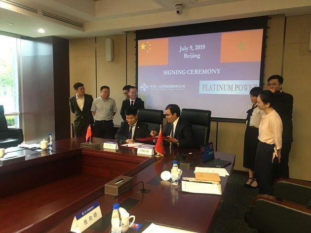 Signature d'un accord entre Platinum Power et le chinois