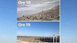 La reazione della riviera romagnola: a 8 ore dal maltempo in spiaggia torna