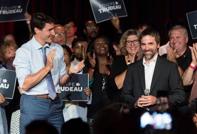 Justin Trudeau était à Montréal pour présenter son nouveau candidat dans...