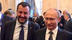 Salvini e il messaggio in bottiglia (in