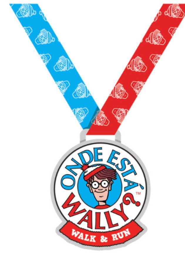 A medalha será distribuída para quem finalizar o percurso da